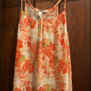Floral sheer top - size small